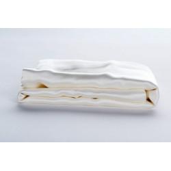 Drap-plat en soie ivoire 22mm