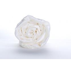 Drap-housse en soie ivoire 22 mm