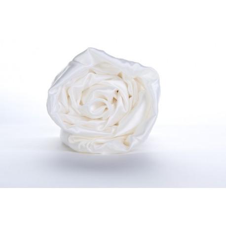 Drap-housse soie blanc ivoire 22 mm