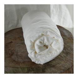 Drap-housse pur chanvre 80/90 x200cm Blanc de chaux