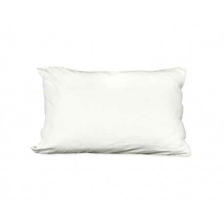 Taie d'oreiller rectangle en lin blanc