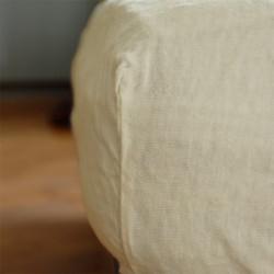 Drap-housse métis chanvre 80/90 x200cm Blanc de chaux